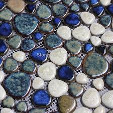 dark brown ceramic porcelain mosaic backsplash hmcm1015 pebble
