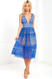 blue lace dress lace dress blue dress midi dress 69 00