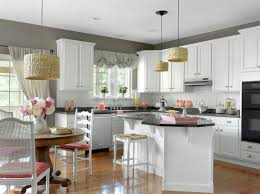 white kitchen cabinets and gray walls top home design