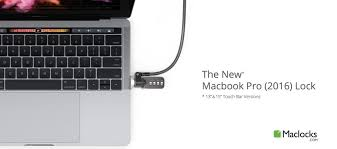 maclocks releases images of new macbook pro touch bar security lock