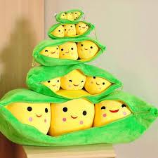 3 peas in a pod peas stuffed plush doll 3 peas in a pod pea