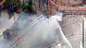Six Flags Magic Mountain Opening Hours Part Of Six Flags Magic Mountain U0027s Colossus Coaster Collapses In
