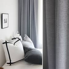 Curtains That Block Out Light Light Grey Woven Textured Classic Curtain