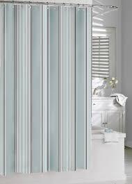 Kassatex Shower Curtain Kassatex Stripe Shower Curtain Spa Blue Grey 72 By 72 Inch