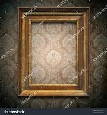 Picture Frame On Wall by Wooden Frame On Wall Stock Illustration 47437552 Shutterstock