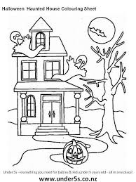 printable spooky house free printable halloween haunted house colouring sheet for kids