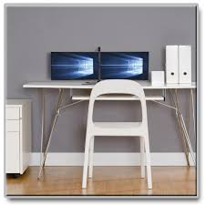 Flat Computer Desk Amazon Com Tripp Lite Dual Monitor Tv Monitor Desktop Display