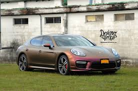 porsche metallic porsche panamera color change designer wraps