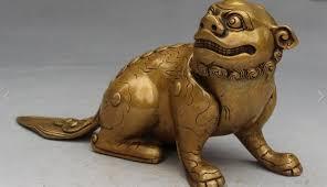 pixiu statue 8 fengshui bronze animal lion beast fu foo dog qilin