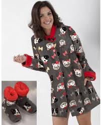 robe de chambre hiver robe de chambre courte polaire massana chaussons offerts dessous