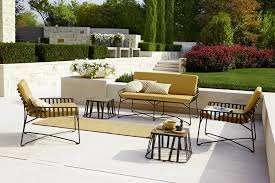 breezy outdoor chairs and sofas with contemporary geo style