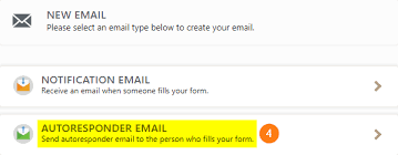 setting up an autoresponder email jotform