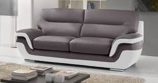 canape cuir bicolore design canapé idées de décoration de