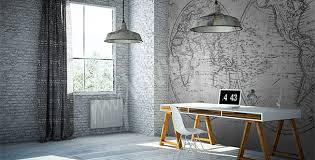 papiers peints bureau mur aux dimensions myloview fr