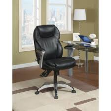 Leather Office Chair Serta Black Bonded Leather Executive Office Chair 43676 The Home