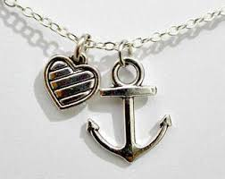 Popular Items For Love Anchors - love anchor necklace etsy
