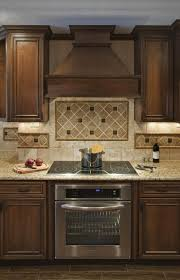 Decorative Kitchen Backsplash Backsplash Ideas For Under Range Hood Tops Along With Wooden