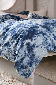 Duvet Covers Teal Blue Denim Tie Dye Duvet Cover Urban Outfitters Canada