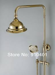 New Shower Faucet New Wholesale Retail Promotion New Golden Bathroom Tub Shower
