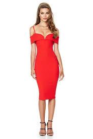 pretty dress cherry pretty woman midi dress buy designer dresses online at nookie