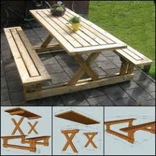 How To Build A Hexagon Picnic Table With Pictures Wikihow by Wooden 8 U0027 Split Bench Picnic Table Attached Bench Picnic Tables