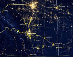 World Map At Night by Light Pollution Abatement Earth At Night
