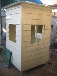 fiberglass security guard cabin from industrial techno