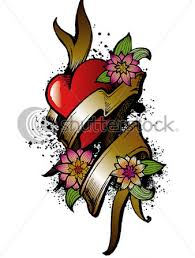 heart flower tattoos star tattoos design