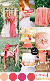 Copper Color Combinations by Coral Wedding Color Combos Color Schemes For Summer