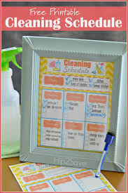 free printable weekly cleaning schedule homemade all natural