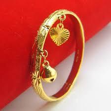 child bangle bracelet images Do not fade gold plated bracelet baby bracelet imitation gold gold jpg