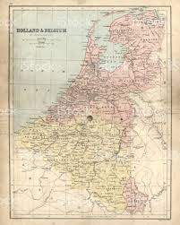 Map Of Holland Antique Damaged Map Of Holland Belgium 19th Century Stock Vector