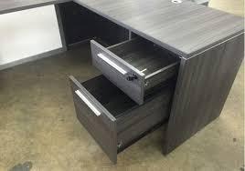 L Shaped Glass Desk With Drawers chiarezza manager u0027s l shaped desk with white glass modesty panel