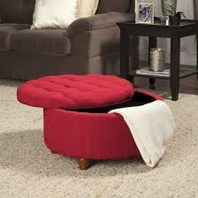 Tufted Ottoman Target by Tufted Round Cocktail Storage Ottoman Red Homepop Target