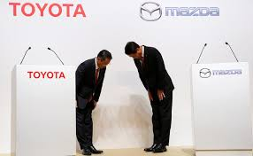 what country is mazda made in toyota goes on offensive with mazda deal