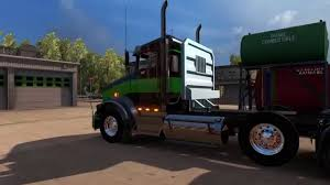 kenworth bed truck american truck simulator kenworth t 800 tri axle youtube