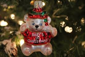 world baby s 1st glass ornament