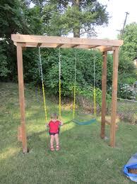 pergola swing set home design styles