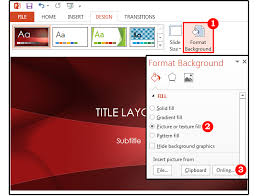 powerpoint background tips how to customize the images colors
