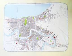 New Orlean Map by New Orleans Map Blanket Small Ellen Macomber