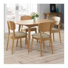 stockholm natural finish dining table ingrid scandinavian wooden dining table 4 seater the design edit
