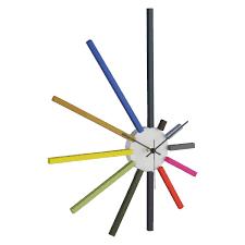 Wall Clocks by Spectrum Multi Coloured Spoke Wall Clock Buy Now At Habitat Uk