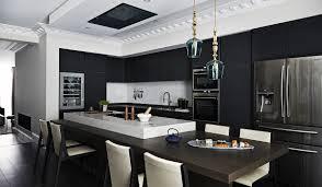 dark modern kitchen dark kitchen with standing pendant rothschild u0026 bickers
