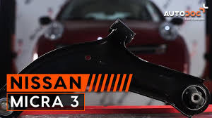 nissan micra k11 parts how to replace front lower arm nissan micra 3 tutorial autodoc