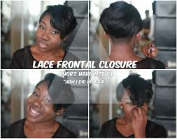 short bob hairstyles 360 degrees lace frontal closure short hair install video youtube