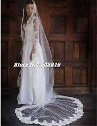 click to buy u003c u003c lace edge one layer cathedral length 118