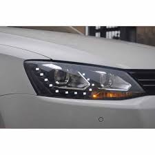 volkswagen jetta white 2011 2011 2017 vw jetta mk6 dual projector headlight w led drl u0026 no