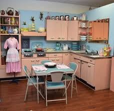 Mid Century Kitchen Cabinets Amy Saves A 1957 Harrison Pink Steel Kitchen Now On Display In