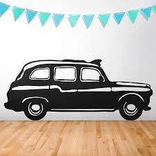 london cab vinyl wall sticker by oakdene designs