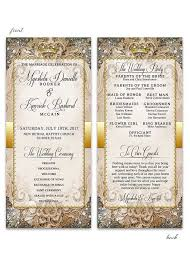 gold wedding programs wedding programs archives lot paperie